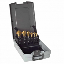 Guhring 6 pce Countersink Set TiN 6.3-20.5mm