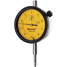 Starrett Dial Indicator 3025-481/5 (Range 5mm)(Graduation 0.01mm)(Dial Reading 0 - 100)