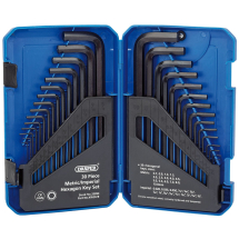 Draper Long Hex Key Set MM/AF 30 pce 33894
