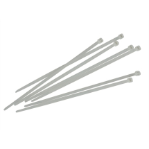 4.8mm x 250 White Cable Ties Pack 100/FAI CT250W