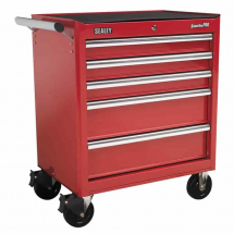 Sealey Roller Cabinet 5 Drawer with Ball Bearing Runners - Red AP33459