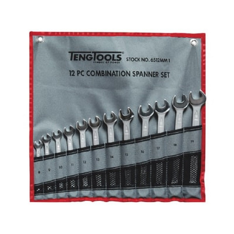 Teng Combination Spanner Set 10pc 8-19mm 6510MM