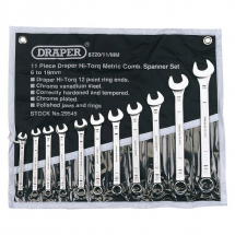 Draper Combination Spanner Set 11 Pce 6 - 19mm 29545