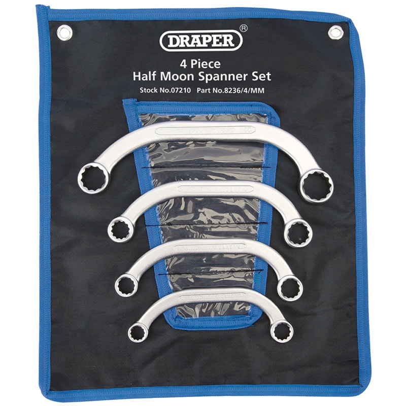 Draper Half Moon Spanner Set 4pce 11-22mm 07210
