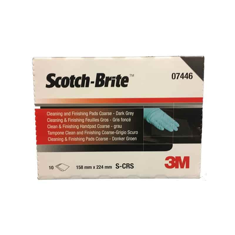 3M 7446 Scotchbrite D/Grey Pk10 For Stainless Steel