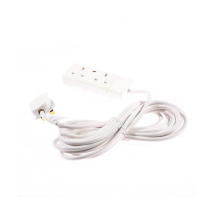 SMJ 13A 2 Gang White Extension Lead 2mtr