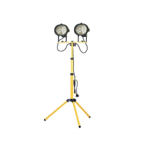 Faithfull Tripod Twin Sitelight 240V FPPSL1000CT