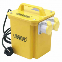 Draper 1kVA 230V to 110V Portable Site Transformer 31262