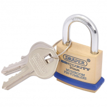 Draper 30mm Brass Padlock 64160