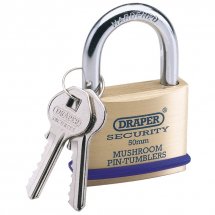 Draper 50mm Brass Padlock 64162