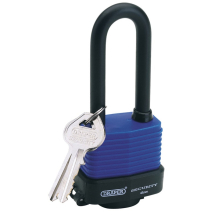 Draper 45mm Steel Padlock Long Shackle W'Proof 64177