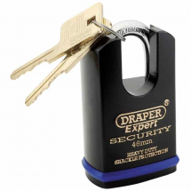 Draper 46mm Heavy Duty Padlock 2Keys & Shrouded Shackle 64196