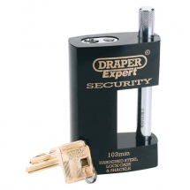 Draper 103mm Heavy Duty Close Shackle Padlock 64205