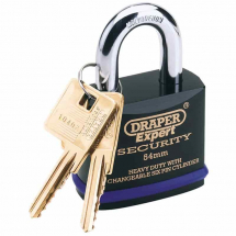 Draper 46mm Heavy Duty Padlock Molybdenum Steel Shackle 64192