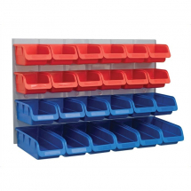 Plastic Storage Bins C/W Panel FAIPAN24