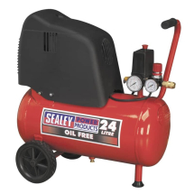 Sealey Compressor 24ltr 1.5hp Belt Drive Oil Free SAC02415