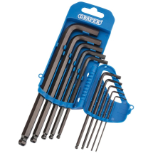 Draper Ball End Hex Key Set 1/16-3/8inch 33716