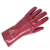 PVC Open Cuff Glove Keepsafe Red Size 10 303022