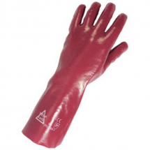 Red PVC Gauntlet 14inch Keepsafe Size 10 303023