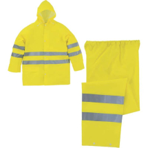 Delta Plus High-Vis Rain Suit 604V2 Yellow Medium