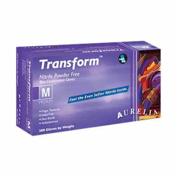 Aurelia Transform 100 Blue Nitrile Disposable Gloves