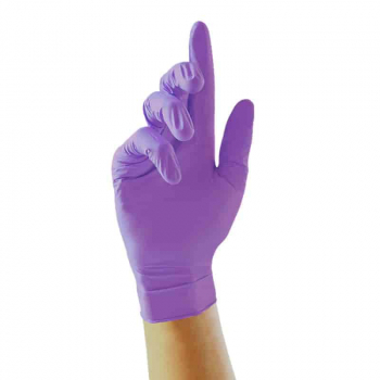 Unigloves Stronghold Purple Nitrile Gloves