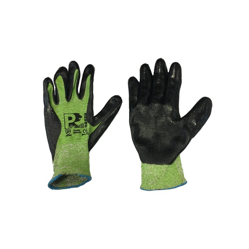 Pred Green Level 5 Cut Resistant Gloves
