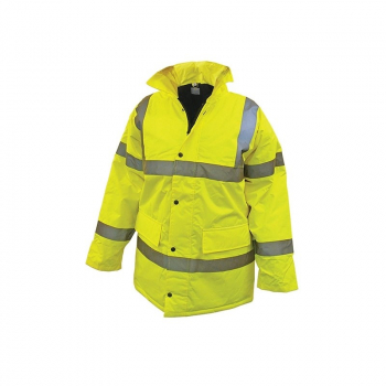 Scan Yellow High Visibility Waterproof Motorway Jacket