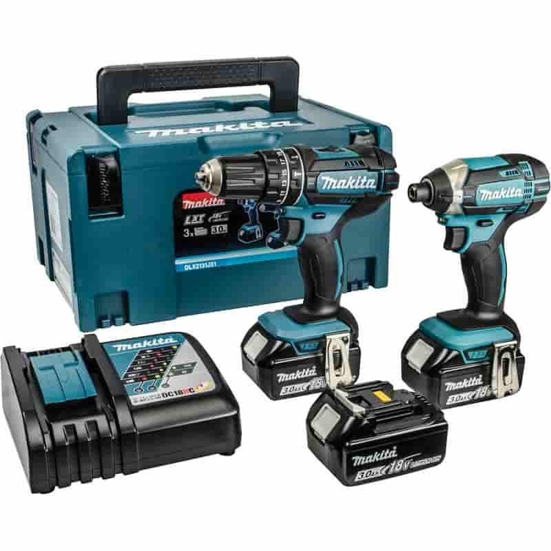 Makita DLX2131JX1 Twin Pack 18V 3x 3.0Ah Li-ion Batt